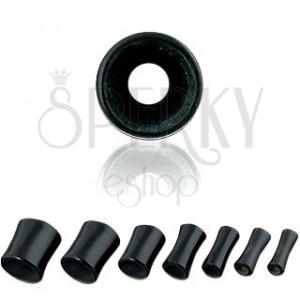 Ear tunnel - black, saddle, marbled