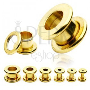 Screw ear tunnel in gold colour