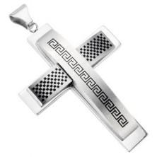Massive cross - checkered pattern and graphic symbol