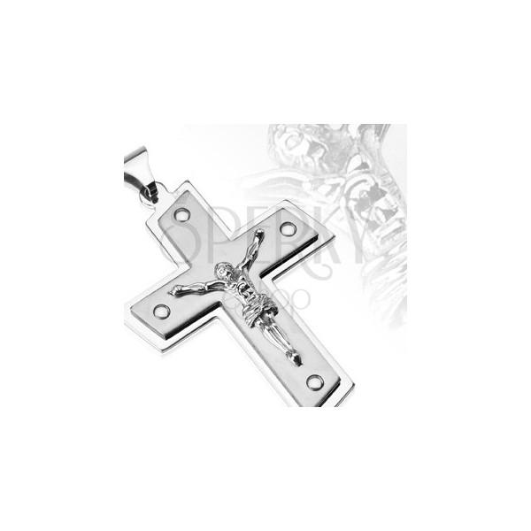 Stainless steel pendant - Christ on cross