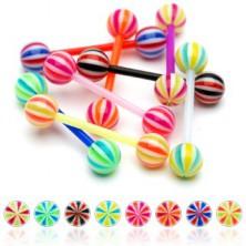 Flexible UV candy ball tongue piercing