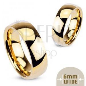 Gold metal ring - smooth shiny wedding ring