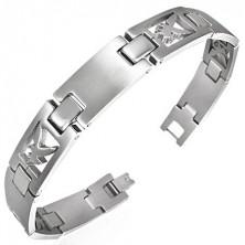 Surgical steel bracelet with flying eagle