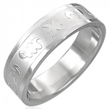 Stainless steel ring - zodiac