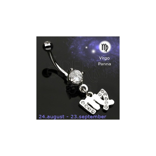 Zodiac belly button ring - Virgo