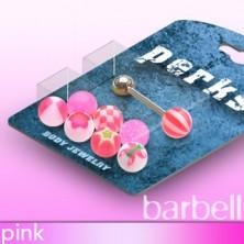 Candy balls tongue piercing - set