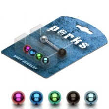 Anodized balls tongue piercing - set