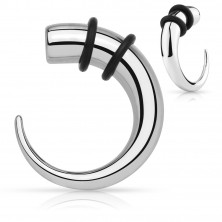 Stainless steel expander - hook of silver colour with rubber bands of black colour