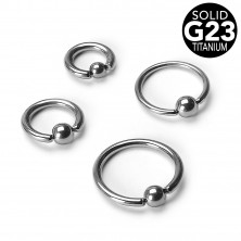 Titanium piercing - circle with ball, width 1,6 mm