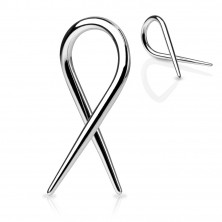 Ear expander of silver colour - stainless steel spiral