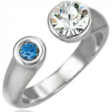 Split ring with two zircons