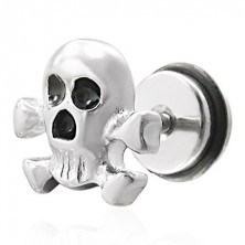 Pirate skull false piercing - fake plug