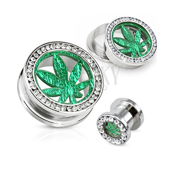 Pot Leaf Ear Gauges Jewelry Ear Plugs