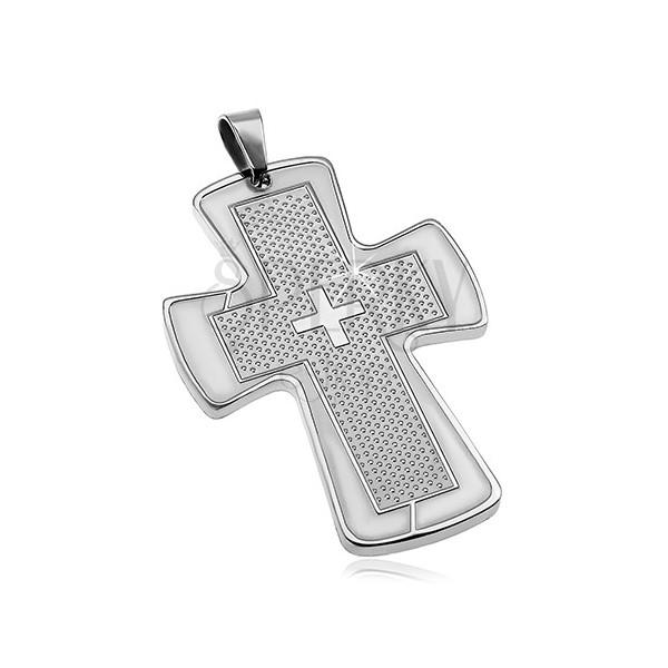 Surgical steel pendant - big cross