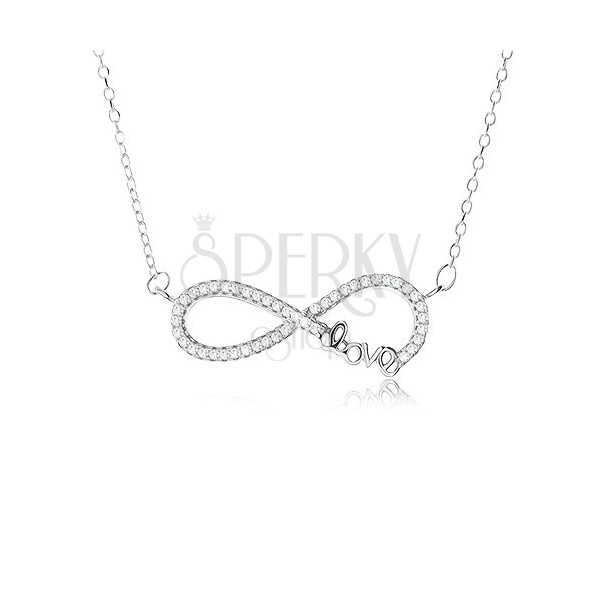 Adjustable Necklace 925 Silver Infinity Symbol Pendant With