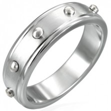 Stainless steel ring - protruding cylinders