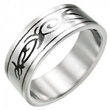 TRIBAL ornament steel ring