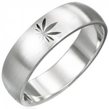 Marijuana stainless steel ring