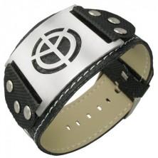 Black PVC bracelet - symbol of peace
