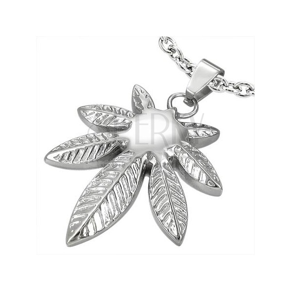 Stainless steel pendant - pot leaf