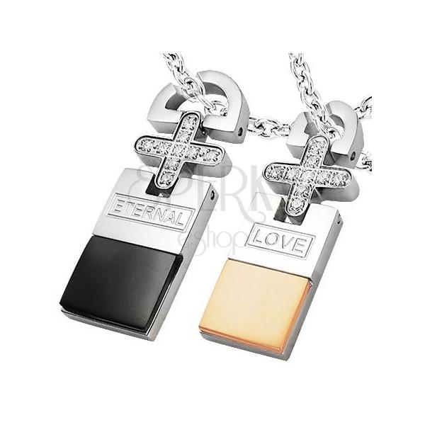 Set of stainless steel pendants - ETERNAL LOVE