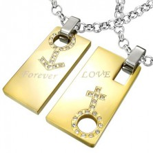 Steel pendant Forever Love - symbol of man and woman