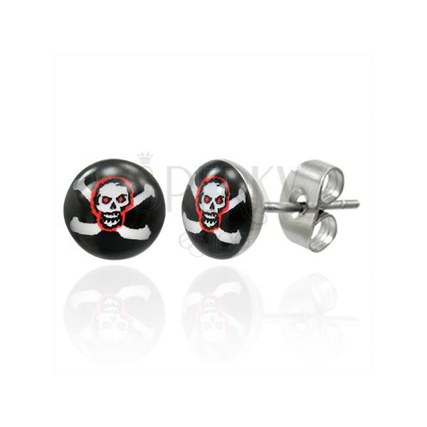 Pirate skull stainless steel earrings