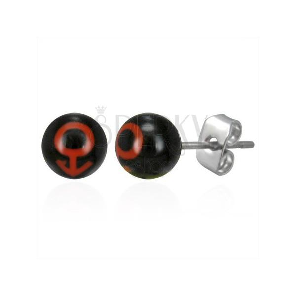 Stud steel ball earrings - MAN