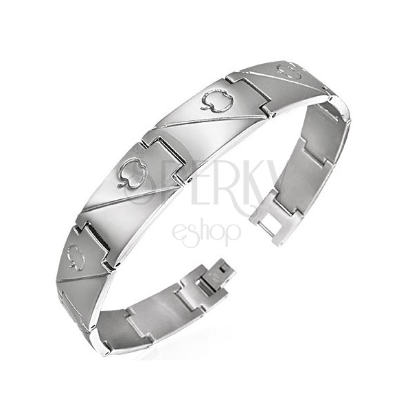 Steel bracelet with apple - symbol of love