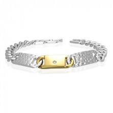 Steel bracelet - thick chain, ID plates