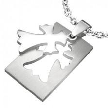 Stainless steel pendant - Fleur De Lis Cross