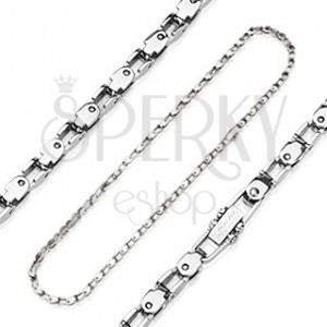 Chain made of surgical steel with imitation of bicycle chain