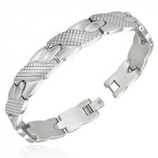 Bracelet made of steel, ribbon pattern