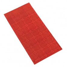 Shiny gift cellophane bag in red colour with mofit of spirals
