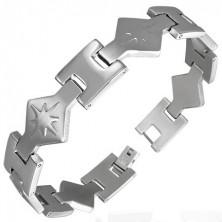 Stainless steel bracelet - sparkling star