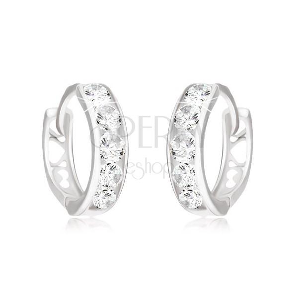 Earrings Made Of White 14k Gold