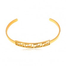 Bracelet made of surgical steel in gold colour with motif of Greek key