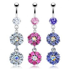 Belly button ring - flower