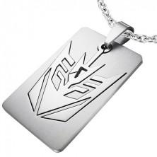 Pendant, steel tag - Arrow