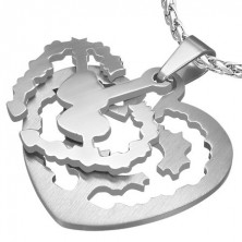Heart tag pendant