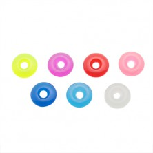 Coloured acrylic circle for a piercing - pendant for a barbell