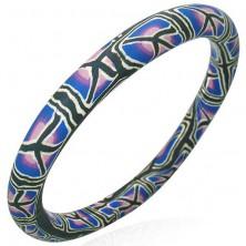 Fimo bracelet with tree trunk pattern