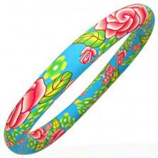 Fimo bracelet with pastel colours motif