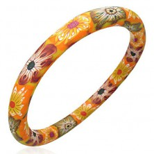 Fimo bracelet - autumn pattern