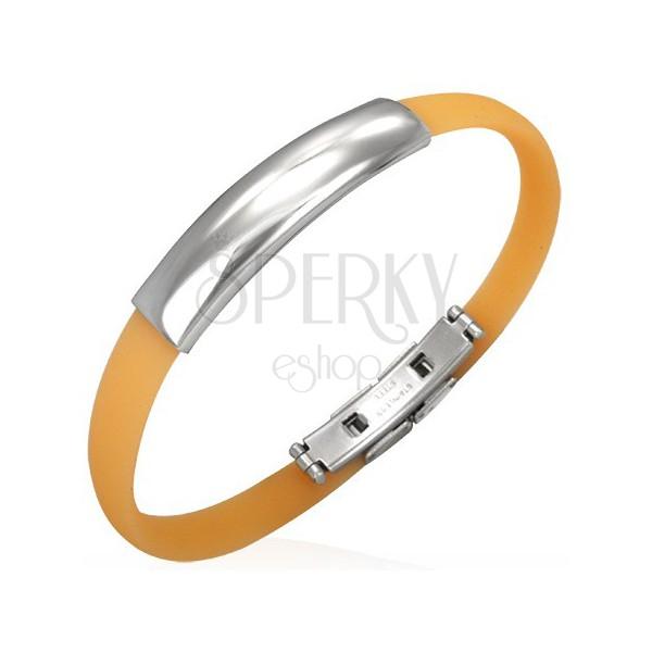 Flat rubber bracelet - orange