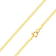 585 yellow gold bracelet - oval eyelets, serial connection, 190 mm