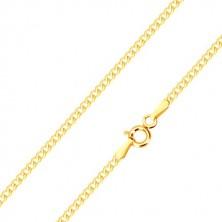 Bracelet in 14K yellow gold - slightly curved oval eyelets, 180 mm