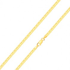 14K yellow gold chain – alternately connected compound eyelets, 500 mm