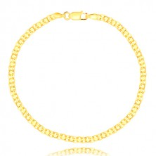 Bracelet made of 585 gold – serial eyelet connection, 200 mm
