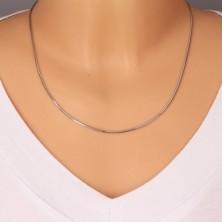 585 white gold chain - snakeskin motif, shiny surface, 500 mm